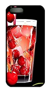 3d Glass With Cherry PC For HTC One M9 Case Cover Black