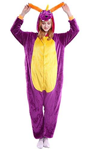 Onesie Sleepwear Dragon Donna Unisex Natale Cosplay Dolamen Party Adulto Halloween Kigurumi Costume Attrezzatura Anime Pigiama Uomo wq4ICaS