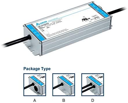120W Delta LNE-24V120WDAA LED Power Supplies 24VDC IP67 with Dimming
