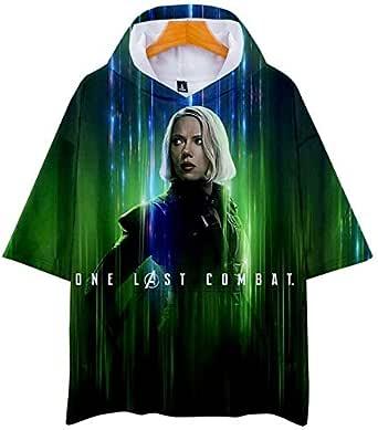 قميص رياضي بأكمام قصيرة مطبوع عليه Avengers 4 End game Quantum بأكمام قصيرة بطباعة ثلاثية الأبعاد لفصل الصيف
