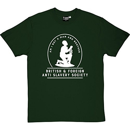 (Am I Not A Man and Brother? Racing Green Men's T-Shirts (White Print) Large)