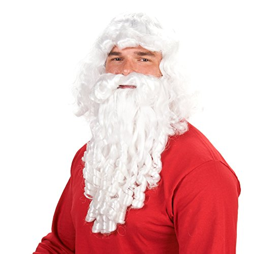 Deluxe Santa Adult Beard and Wig - St Nicholas Costume