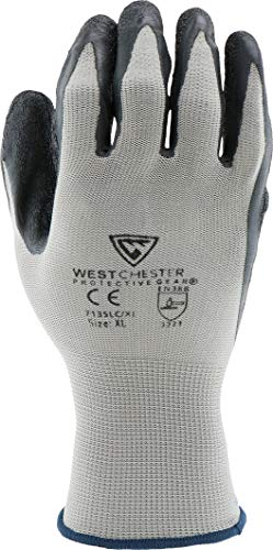 West Chester 713SLC M Latex Coated Multipurpose Work Glove, Medium, Black Gray (Pack of 12) by West Chester (Image #4)