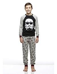 Boys 2-Piece Cotton Pajama Set, Long-Sleeve Top and Jogger Pants