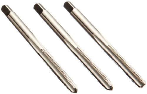 Union Butterfield 1528S(UNF) High-Speed Steel Hand Tap Set, Uncoated (Bright) Finish, Round Shank With Square End, 3-Piece (1 Taper, 1 Plug, 1 Bottoming Chamfer), H3 Tolerance, #12-28