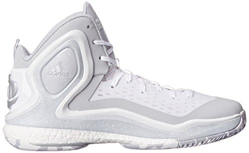 adidas D Rose 5 Boost hombres zapatillas de deporte / zapatos de baloncesto White/Grey/White