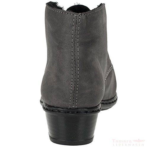 Gr York Damen New Grey M0740 Stiefel Rieker 38 Halbschaft gB70Wpga