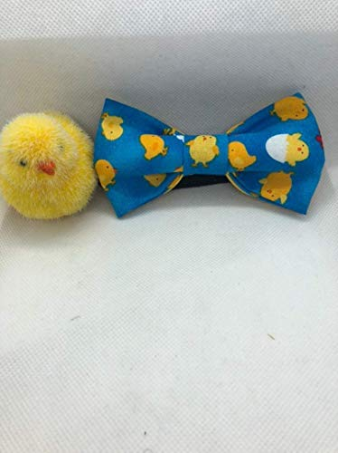 Easter Chick/Spring Chick kid/boys Easter bow tie. Pre-tied cotton featuring bright yellow baby chicks. Easter Sunday dapper! 16