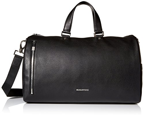 BUGATCHI Men's Full Grain Leather Weekender Bag by Bugatchi