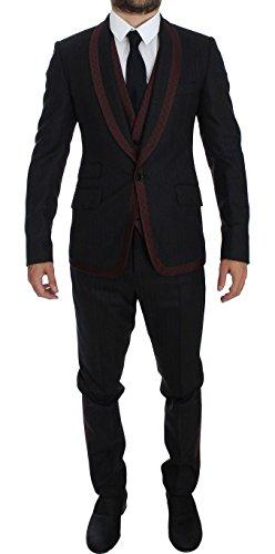 Dolce & Gabbana Gray Striped 3 Piece Slim Suit (Dolce & Gabbana Striped Suit)