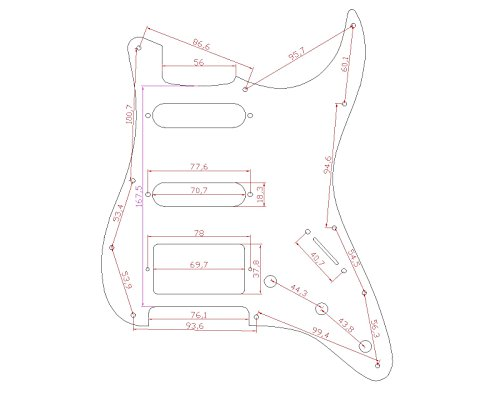 Amazon Com Musiclily Hss 11 Hole Strat Guitar Pickguard Scratch