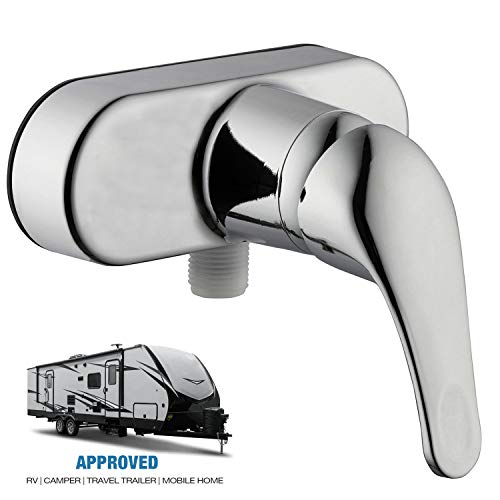 Wholesale Plumbing Supply RV Mobile Travel Trailer Shower Faucet Single Handle Diverter Lever, Chrome