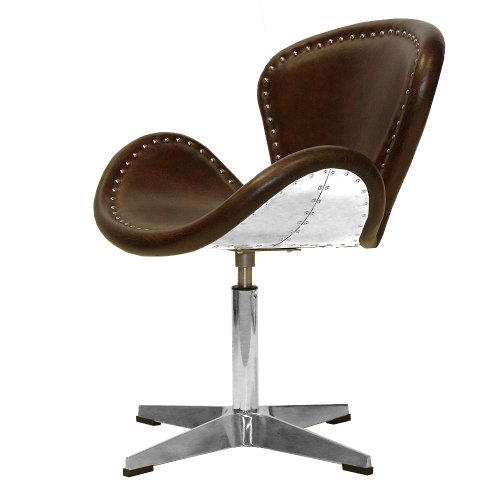 Phoenixarts Vintage Echtleder Sessel Retro Ledersessel Braun Design  Drehsessel Lounge Clubsessel Möbel 437: Amazon.de: Küche U0026 Haushalt