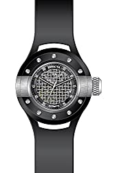 Invicta Men's S1 Rally Black Polyurethane Band Steel Case Automatic Silver-Tone Dial Analog Watch 20101