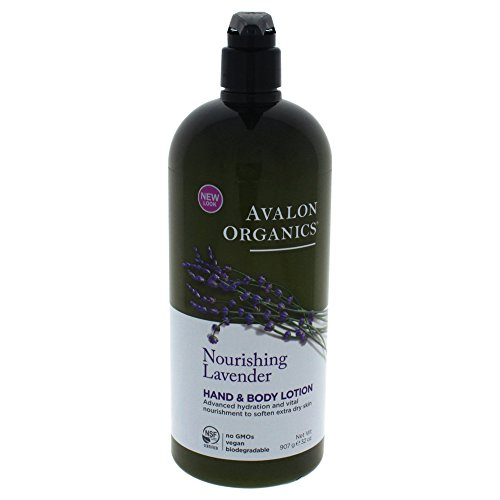 Avalon Organics Hand & Body Lotion, Nourishing Lavender, 32 Ounce