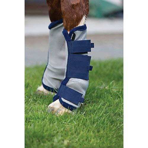 amiGO Fly Boots Horse Silver/Navy