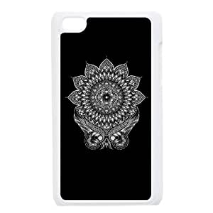 iPod Touch 4 Case White owl Mandala MMF Speck Cell Phone Case