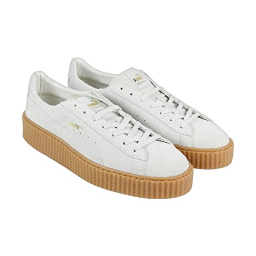 Puma Select Mens X Rihanna Suede Klimplanten Ster Witte Ster Witte Havermout