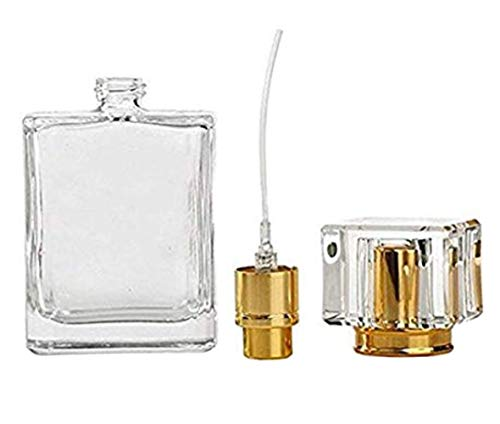 ASTRQLE 1PC 50ml 1.7oz Crystal Empty Glass Refillable Spray Perfume Bottle Atomizer Container for Essential Oil Scent Water Fine Mist