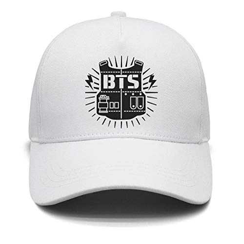 AhlsenL BTS Bangtan Boys Baseball Cap Adjustable Casual Sports Sun Hat Snapback Hip Hop Flat Hat for Boys & Girls
