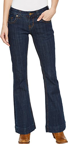Bootcut Cotton Trousers (Rock and Roll Cowgirl Women's Trousers Bootcut in Dark Wash W8-5098 Dark Wash 31 30)
