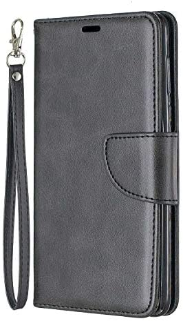Nokia 5 ケース, OMATENTI PUレザー手帳型 ケース, 薄型 簡約風 人気 新品 財布 フリップカバー スマホケース, Nokia 5 用 Case Cover, マグネット開閉式 スタンド機能 カード収納 付き, 黒