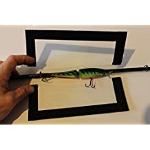 """The Lure Jacket Value 3-Pack Angler Size (Black) - 8"""" L x 8"""" W"""