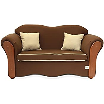 KEET Homey VIP Organic Kidu0027s Sofa, Brown/Beige