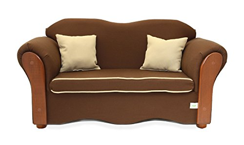 Chair Upholstered Alder (KEET Homey VIP Organic Kid's Sofa, Brown/Beige)