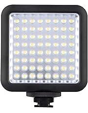 Godox - Pannello luci LED, LED36,260 lux, continuo, per fotocamera, ultra luminoso, portatile, da incastro, dimmerabile, per Canon, Nikon e altro, digitale con panno per obiettivo LETWING