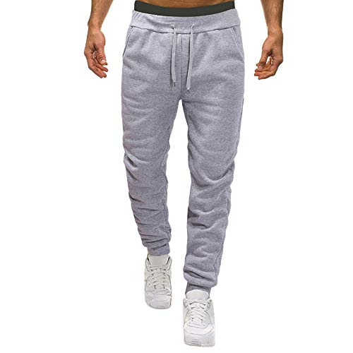 - Men Pants Men's Comfort Elastic Waist Drawstring Pockets Fashion Solid Running Athletic Sweatpants Joggers Trousers