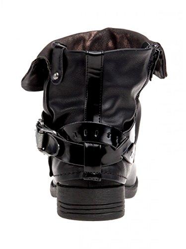 femme Boots CASPAR SBO067 pour vintage biker vT4STf