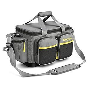 Magreel Fishing Tackle Bag, Water-Resistant Polyester Material Fishing Tackle Storage Bag with...