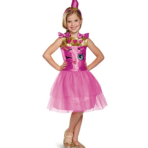 Lippy Lips Classic Shopkins The Licensing Shop Costume, Medium/7-8
