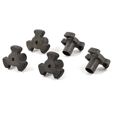 Uteruik Microwave Oven Turntable Roller Guide Support Coupler Tray Shaft 5 Pcs