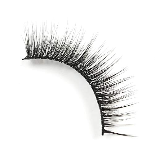 EDA LUXURY BEAUTY GRANDIOSE 3D Faux Mink False Lashes | Super Soft Natural Look | Full Volume | Extra Long Length | Eyelash Extensions | Winged Cat Eye Effect | Vegan & Cruelty-Free | Fake Eyelashes