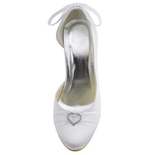 Elegantpark - Pantuflas de caña alta Mujer Blanco