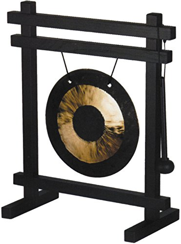 Woodstock Chimes WDG Desk Gong, Black