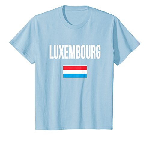 Kids Luxembourg Flag T-shirt . 6 Baby Blue