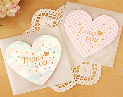 (Chilly All Occasion Greeting Cards with Envelopes, Unique Design and Super Paper, Pack of 12 (Heart-Shaped Greeting Cards))