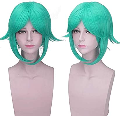 Land Of The Lustrous Phosphophyllite Short Green Wig Cosplay ...