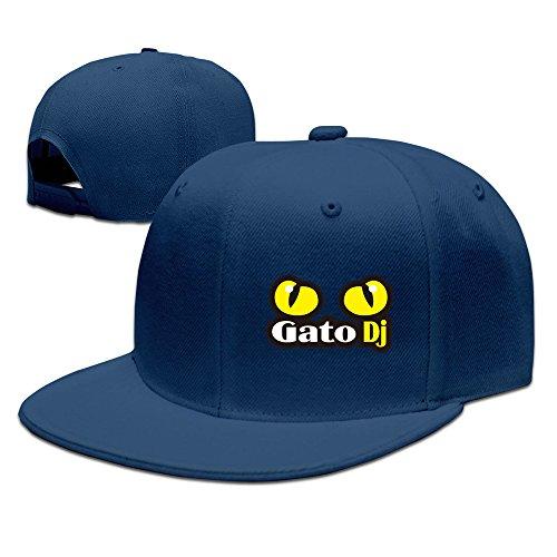Mens Gato Dj Flat Brim Adjustable Snapback Baseball Cap Navy]()