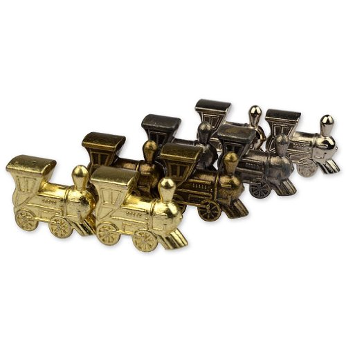 Die Cast Train Markers for Mexican Train Dominoes - Set of 8 (Diecast Train Set)