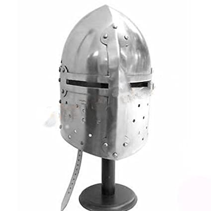 Queen Brass Medieval Sugar Loaf Helmet - Warrior European Costume Armor Sugarloaf W/ Liner Standard