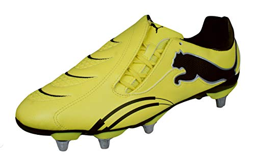 (PUMA PWR-C 3.10 Rugby WC H8 Mens Rugby Boots-Yellow-13)