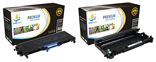 Catch Supplies DR360 & TN360 Jumbo Premium Replacement Drum Unit & Toner Cartridge Combo Compatible with Brother HL-2140 2150 2170, DCP-7030 7040, MFC-7345 7345 7440 7450 Printers |1 TN-360, 1 DR-360| (7450 Black Imaging Unit)