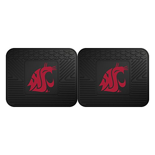 Fanmats 12780 Washington State University Cougars Rear Second Row Vinyl Heavy Duty Utility Mat, (Pack of 2) ()