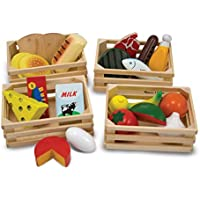 Melissa & Doug Food Groups - 21 Hand-Painted Wooden...