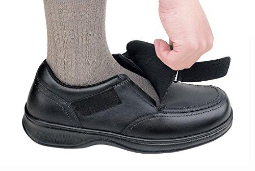 Orthofeet 517 Mens Comfort Diabetic Thérapeutique Extra Profondeur Chaussure Noir