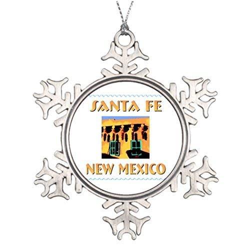 Acove Santa Fe Western Christmas Decorating Ideas Christmas Snowflake Ornaments 3 inch